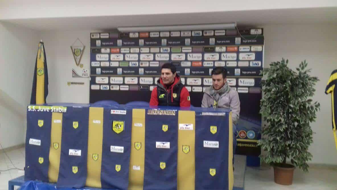 Sala Stampa di Juve Stabia vs Fondi. Parlano solo i due allenatori. Prima Pochesci per il Fondi e poi Fontana per le vespe