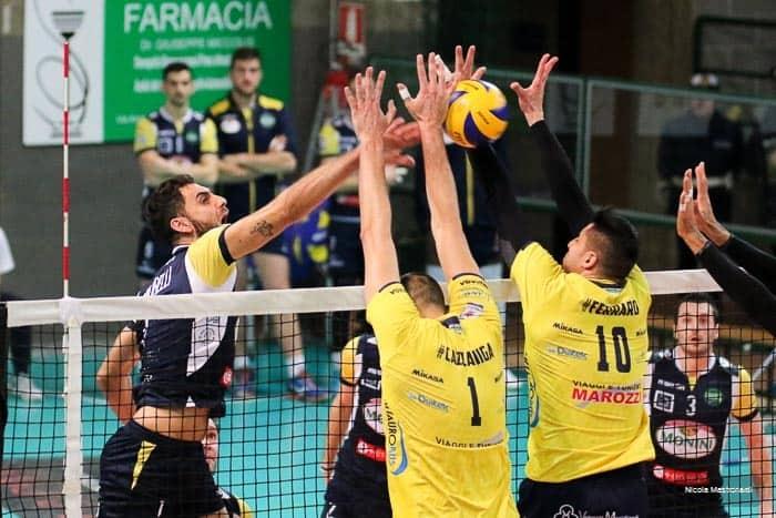 Foto e tabellino di BCC Castellana Grotte - Monini Spoleto, prima giornata della Pool Promozione di Volley maschile di A2