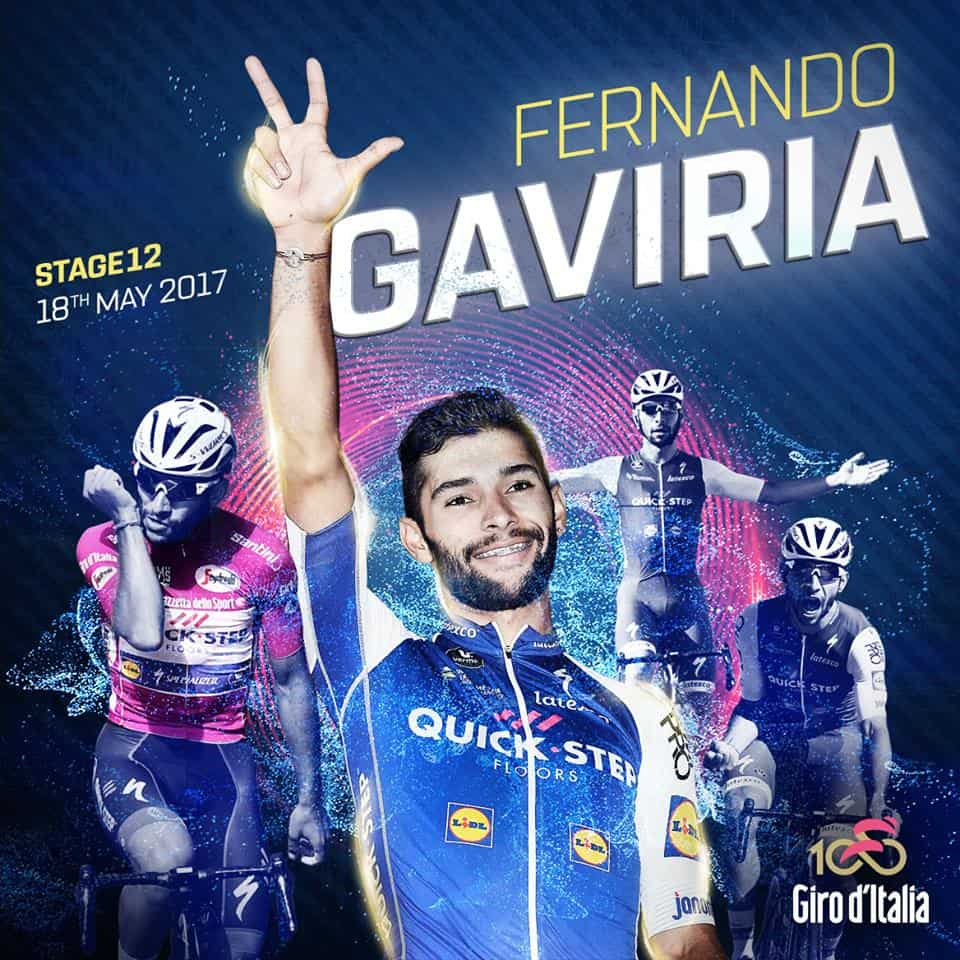 Giro d'Italia, 12° Tappa: Gaviria fa tripletta, Mareczko ancora secondo