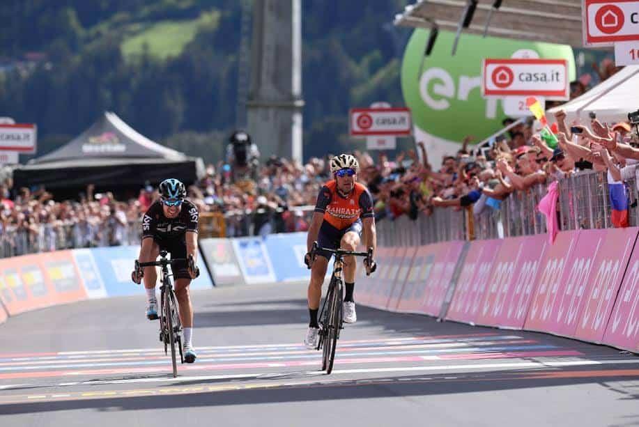 Giro d'Italia, 16° Tappa: Nibali c'è! Lo Squalo vince la tappa più dura; Domoulin in difficoltà