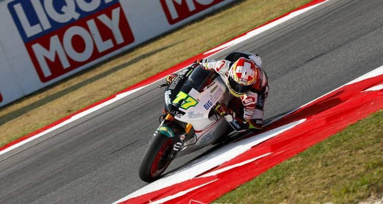 La Moto2 a San marino ha visto vincere lo svizzero Aegerter sulla Suter. In classifica generale avanti sempre le tre Kalex. Classifica e foto