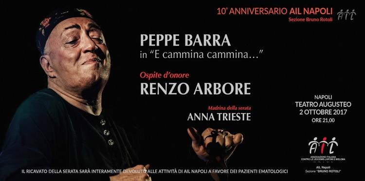 Renzo Arbore e Peppe Barra condivideranno per la prima volta lo stesso palco in favore dei pazienti ematologici. I dettagli