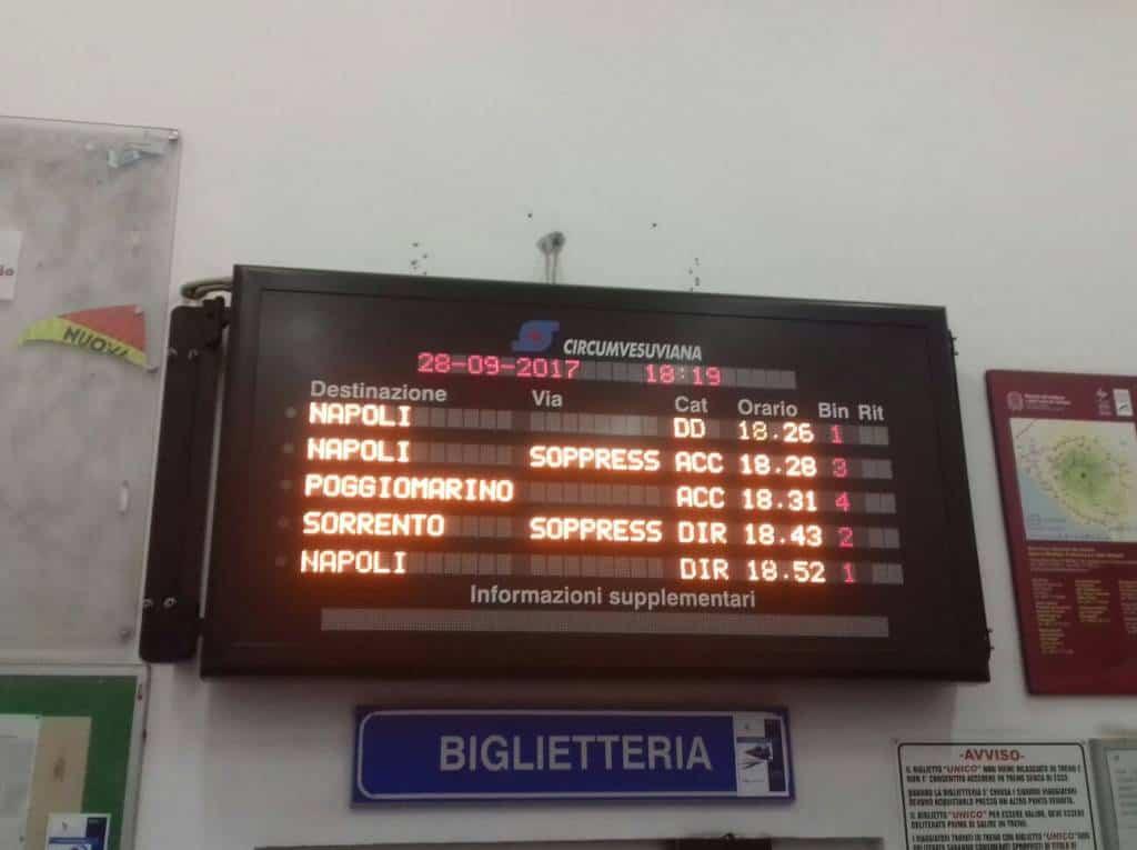 Odissea Circumvesuviana senza fine. Nonostante lo sciopero di martedì, pendolari e viaggiatori hanno dovuto subire un disagio inaspettato