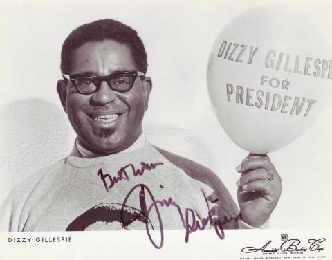 Dizzy Gillespie nel centenario della sua nascita, in un episodio della sua vita: la candidatura come presidente USA.