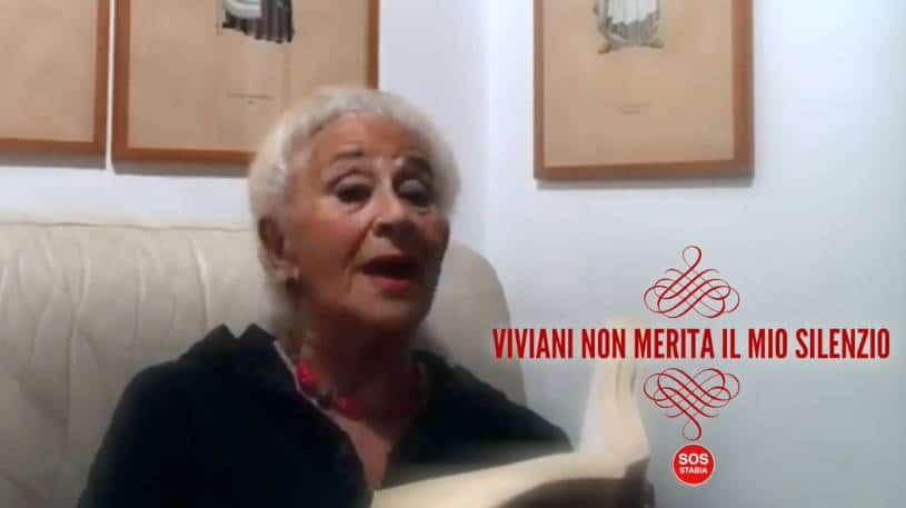 Isa Danieli partecipa alla campagna lanciata da Sos Stabia, Viviani non merita il mio silenzio! Ecco il video