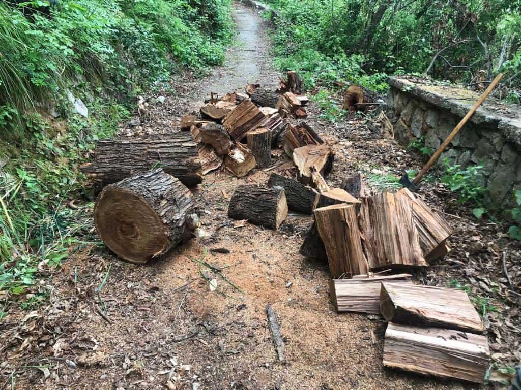 Continua il lavoro di manutenzione straordinaria da parte dell'Ente Parco dei Monti Lattari. Ancora in azione i volontari