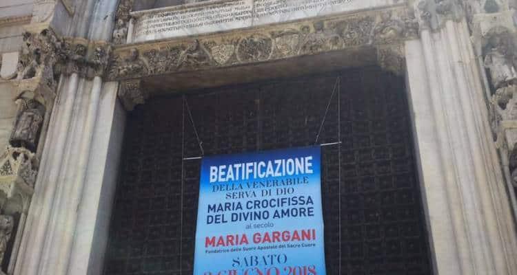 E' stata celebrata ieri mattina, presso il Duomo di Napoli, la Messa di Beatificazione di Maria Gargani, figlia spirituale di Padre Pio e fondatrice dell'ordine delle Suore Apostole del Sacro Cuore.Tre cardinali presenti alla celebrazione.Grande l'emozione delle consorelle.