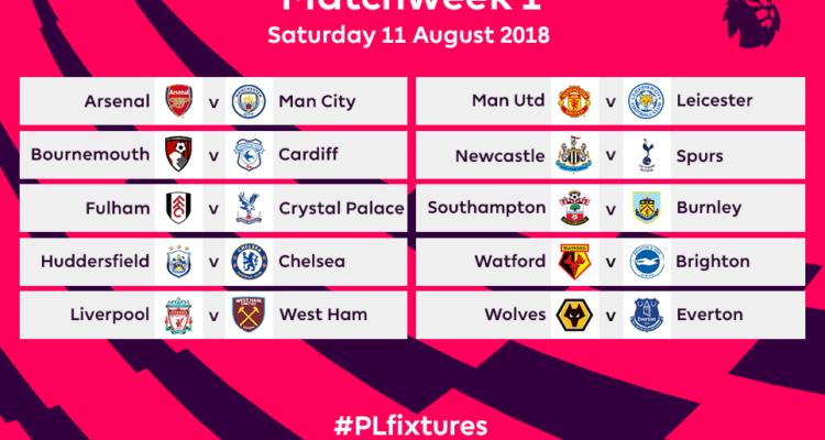 Calendario 2018 2019.Premier League 2018 2019 Svelato Il Calendario Della Nuova