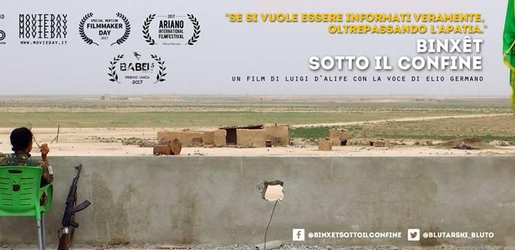 """""""Binxet – Sotto il confine""""è il primo documentario che attraverso immagini esclusive e testimonianze sul confine turco-siriano, racconta in maniera fedele la lotta per l'auto-governo, l'indipendenza e l'autonomia del popolo Curdo."""