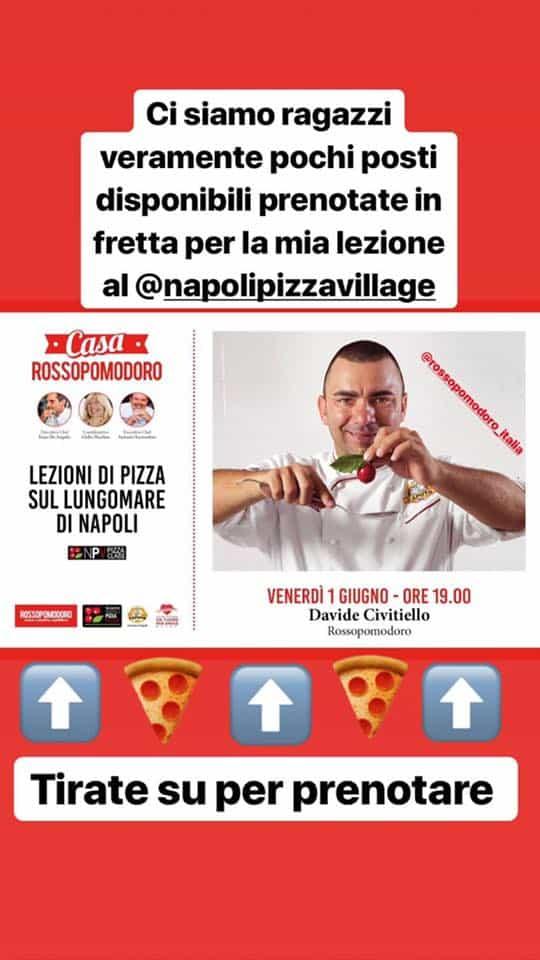 Parte questa sera la VIII Edizione del Napoli Pizza Village, nella splendida cornice del suggestivo Lungomare di Via Caracciolo. Come preparare una buona pizza a casa vostra? Non perdetevi il corso che terrà questa sera Davide Civitiello alNapoli Pizza Villageorganizzato conRossopomodoro.