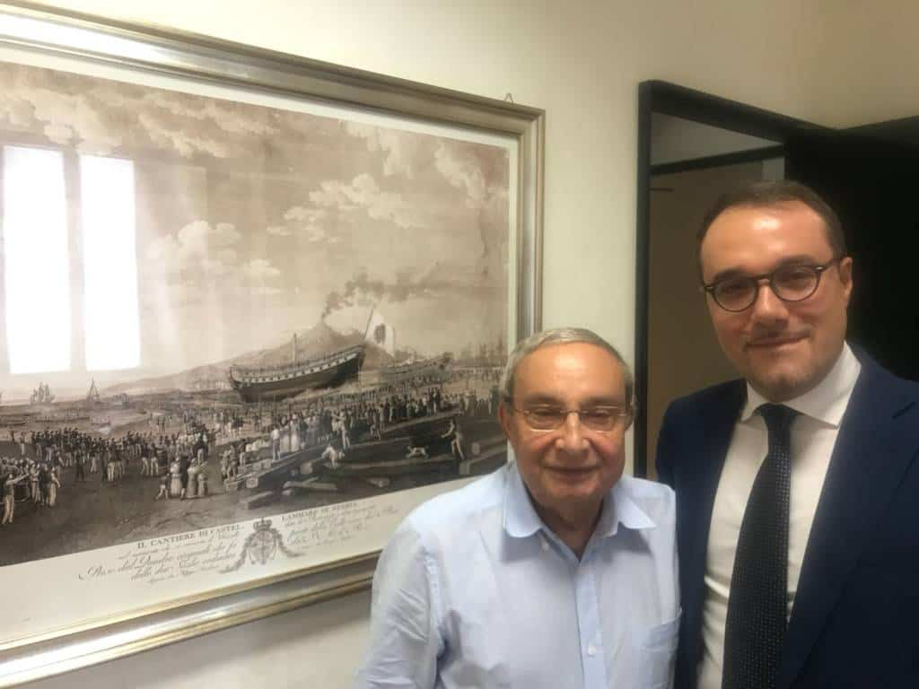 Gaetano Cimmino è soddisfatto del primo incontro con l'amministratore delegato di Fincantieri Giuseppe Bono che ha confermato il valore strategico dei cantieri stabiesi. Ecco il comunicato