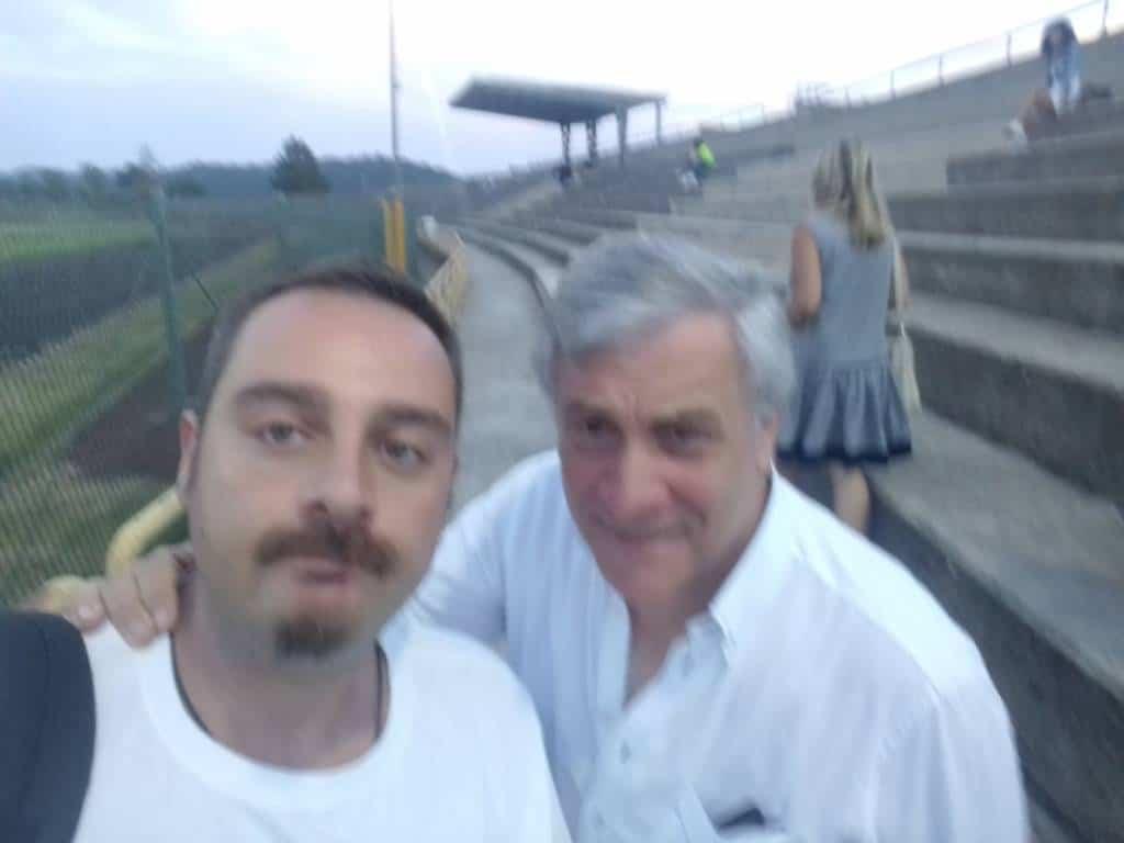 Il presidente del Parlamento Europeo è sugli spalti a Fiuggi a vedere Juve Stabia - Rappresentantiva Fiuggi