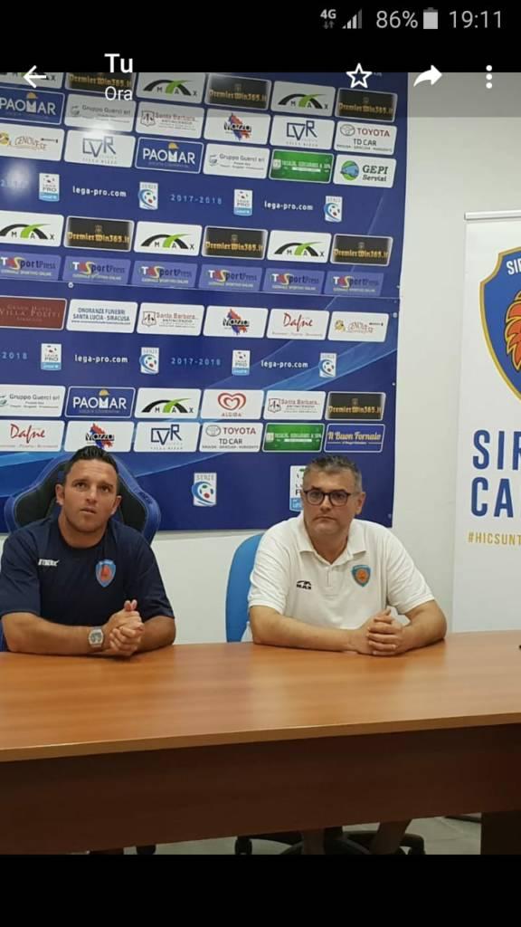 Al termine della partita amichevole tra il Siracusa ed il Catania San Pio X, il nuovo allenatore del Siracusa, Giuseppe Pagana si è concesso ai microfoni dei cronisti