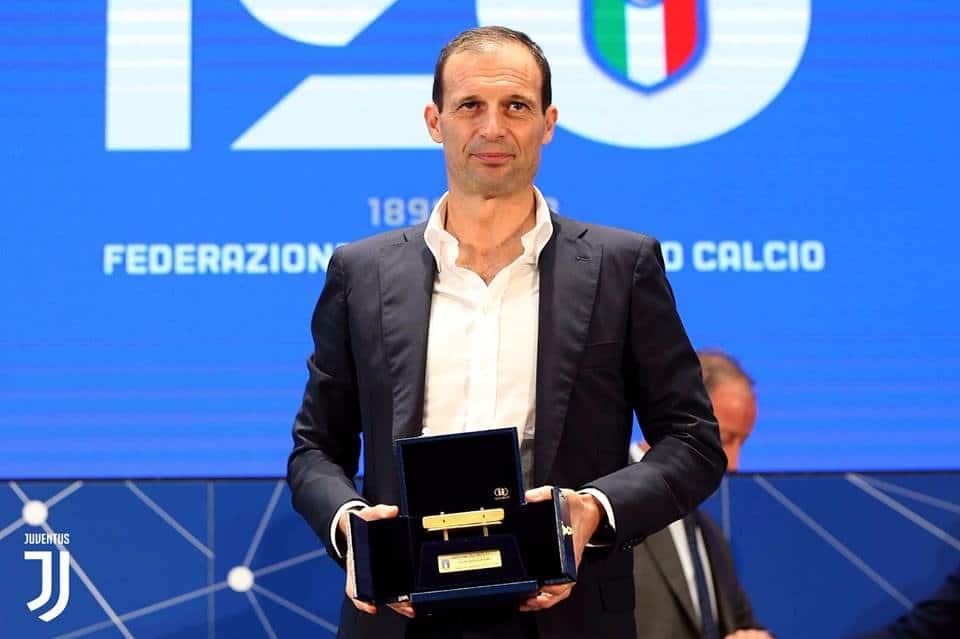 Panchina d'Oro: Il tecnico bianconero conquista per la quarta volta in carriera il premio e ringrazia staff e calciatori.