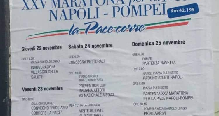"""""""Don't stop me now"""" e così hanno fatto i 147 coraggiosi maratoneti che, ieri mattina, a dispetto del maltempo, hanno corso la Napoli-Pompei"""
