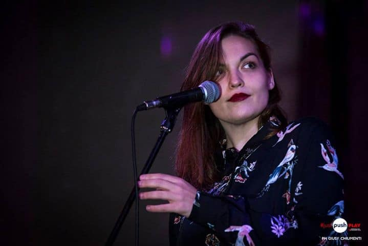 "Valentina ""Larèt"" Rettaroli, cantautrice romana il contest musicale #Just Push Play svoltosi all'Ex- Dogana."