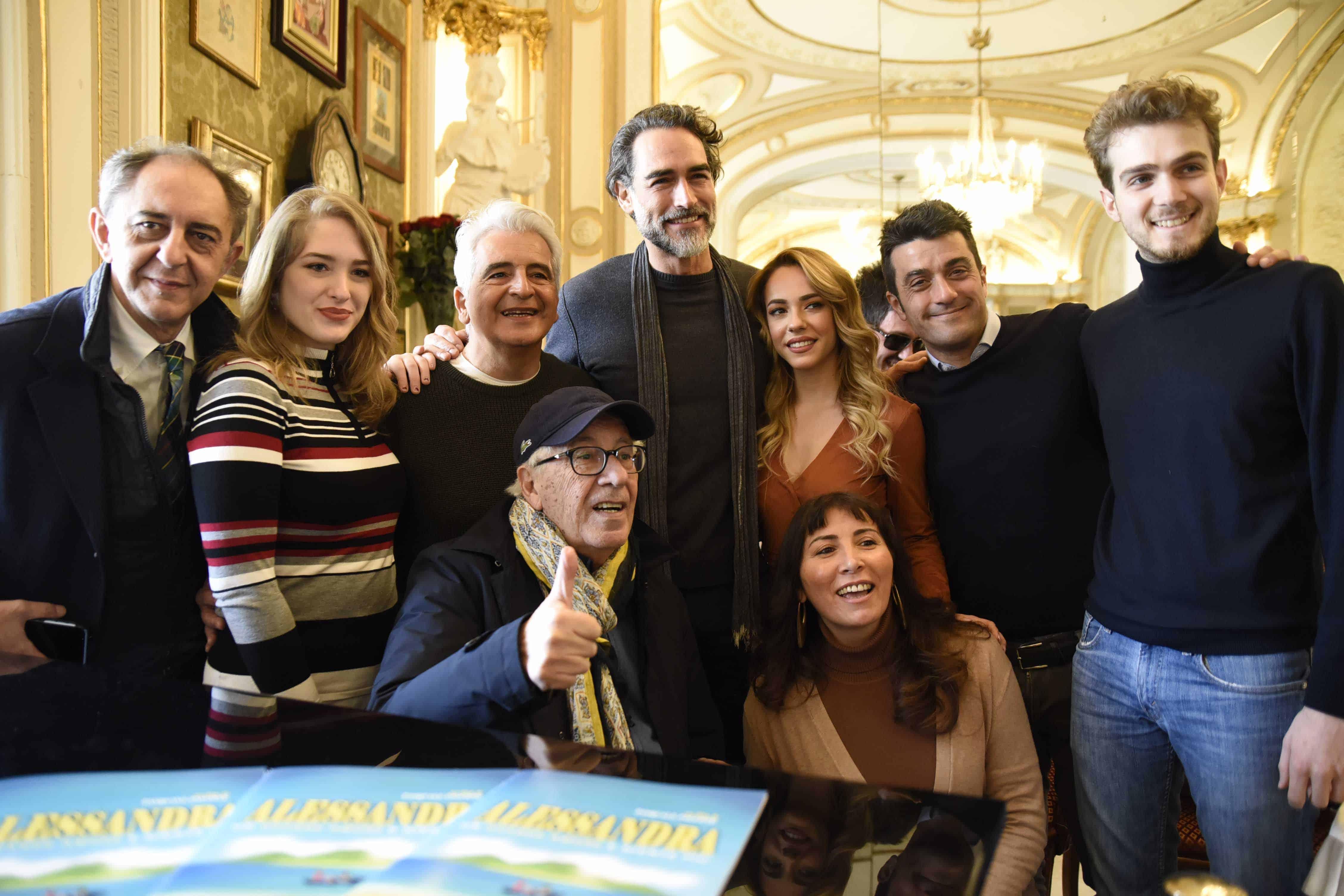 Il cast di Alessandra a Napoli (foto di Antonio Carrano)