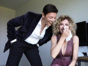 Eva Grimaldi e Imma Battaglia spose