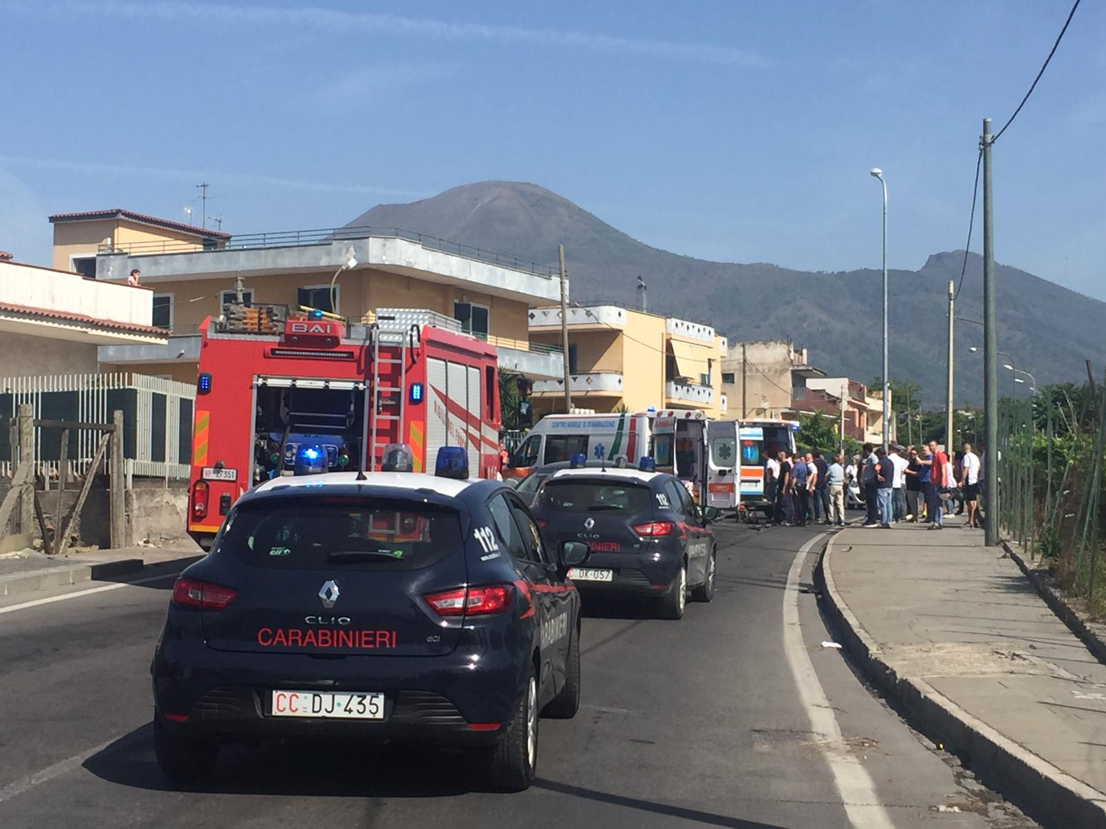 Boscoreale Terzigno incidente