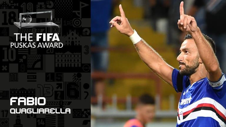 Quagliarella in lizza per il Puskas Award per il gol dell'anno, un premio Fifa, la massima istituzione del calcio (video e link per votare)