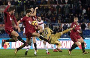 Pari e patta all'Olimpico, Roma-Cagliari 1-1