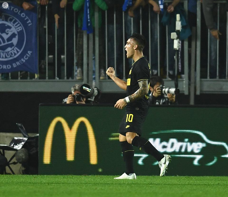 E' da poco conclusa la partita Brescia - Inter, presso lo Stadio Mario Rigamonti di Brescia, partita valida per la 10^ giornata di Serie A.
