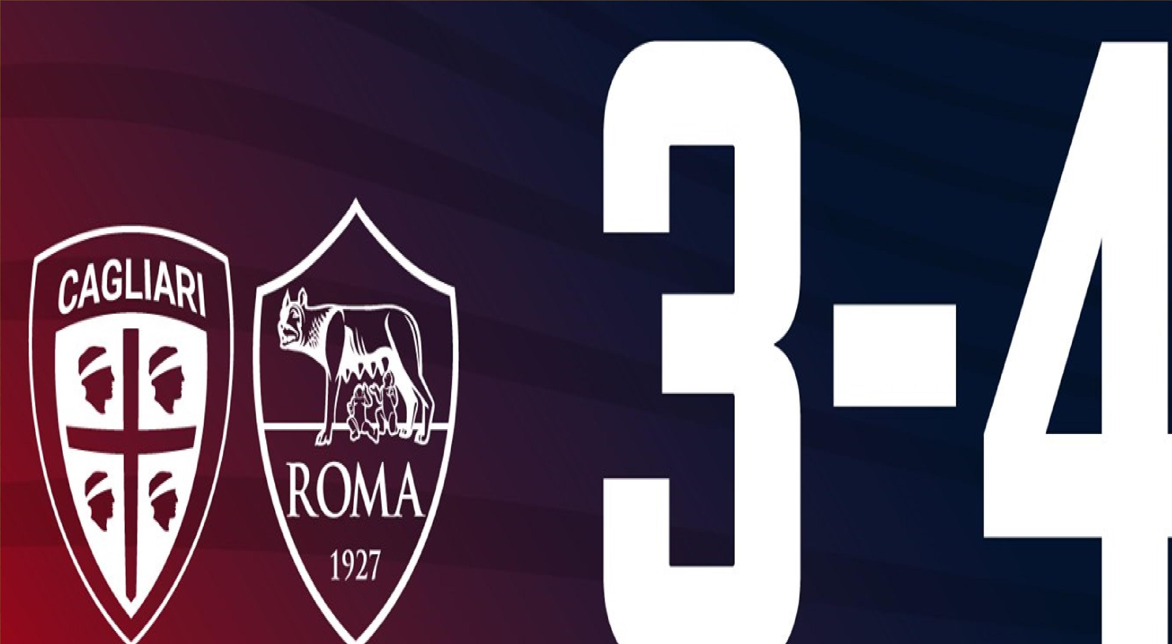 Il Cagliari cade ancora una volta, la Roma passa 4 a 3