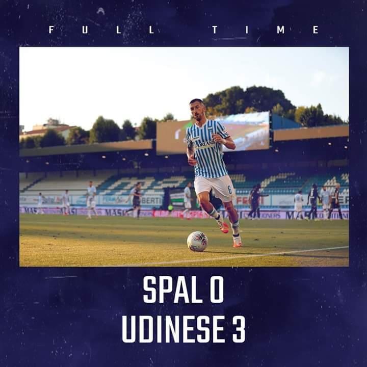 Spal-Udinese è finita con la vittoria dei friulani. C'è poco da aggiungere: i biancazzurri subiscono anche questa volta. Ecco com'è andata.