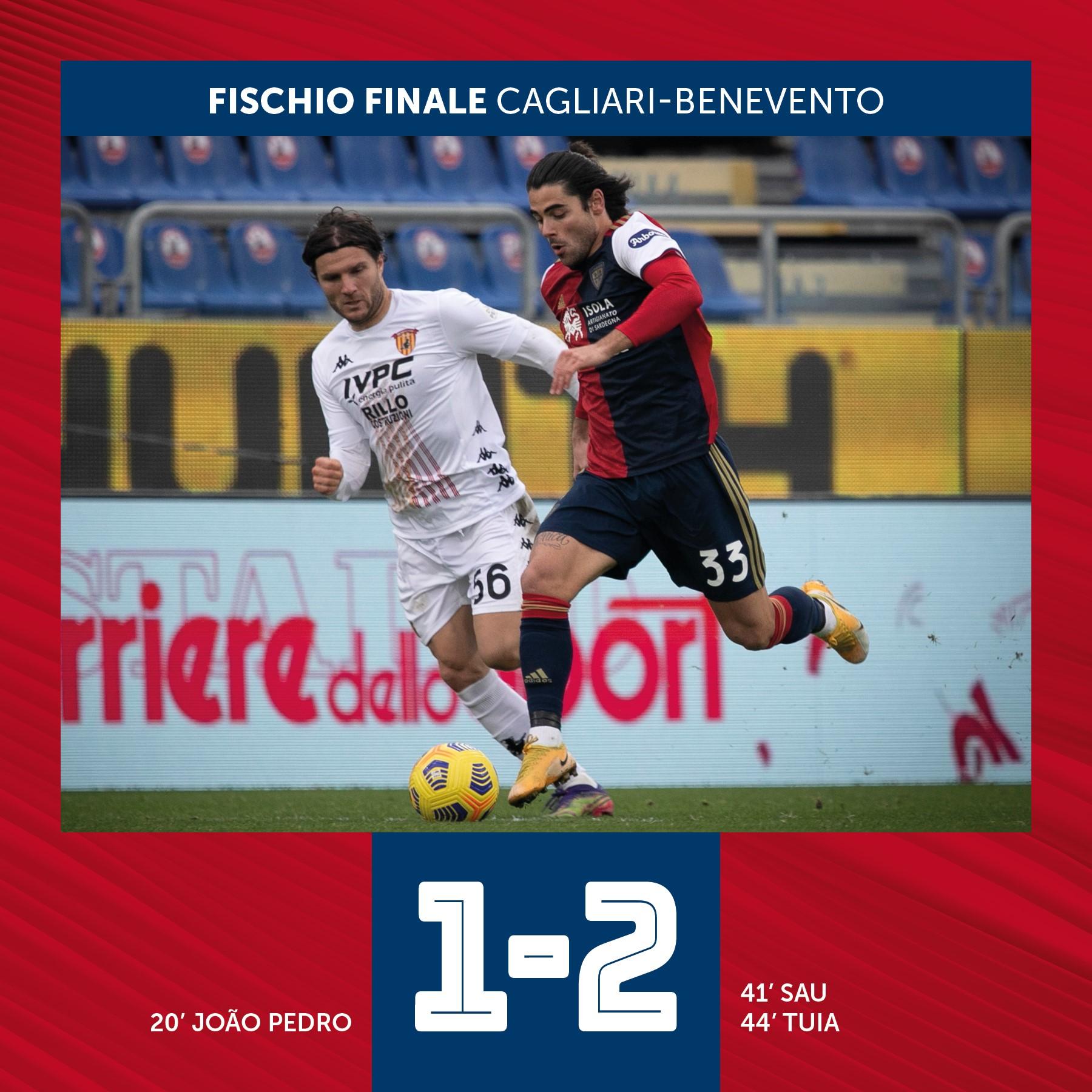 Anche il Benevento passa a Cagliari