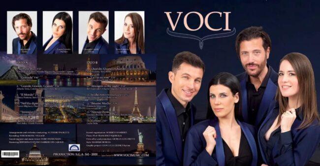 Giuseppe Gambi, Laura Esposito, Luigi Biondi e Tonia Langella si presentano al pubblico con un album composto da 14 canzoni di fama mondiale