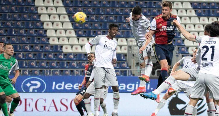 Vittoria con la testa per il Cagliari