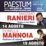 MASSIMO RANIERI E FIORELLA MANNOIA  AD AGOSTO LIVE A PAESTUM